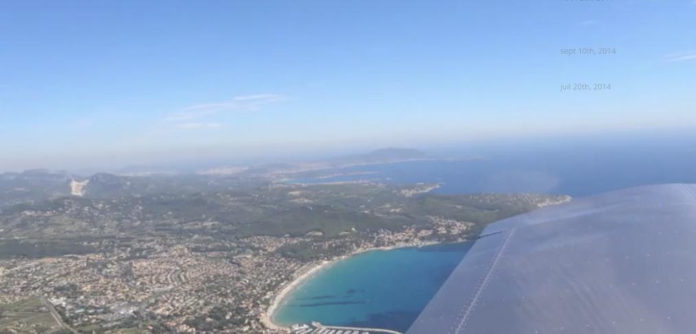 Vol ulm vue du ciel Hérault